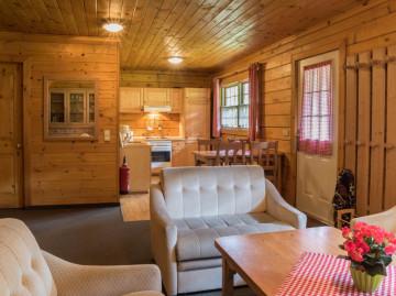 Ferienhaus in Jonsdorf: Wohnbereich und Küche