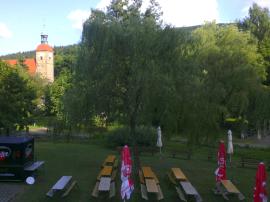 Kurcafé und Kurpark in Jonsdorf