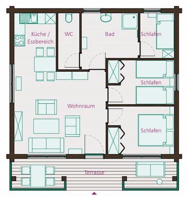 Grundriss_Ferienhaus-2_Gruenes-Blockhaus_Jonsdorf