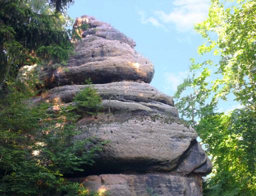 Zittauer Gebirge - Sandsteinfelsen